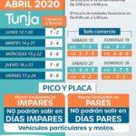 Hoy lunes 13 de abril rige este Pico y Cédula en Tunja.